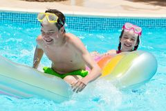 Laughing Children in Pool Royalty Free Stock Image
