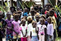 Laughing children of Priumeri, Solomon Islands Royalty Free Stock Image