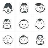 Laughing children's faces. Set. Vector illustration Royalty Free Stock Photography