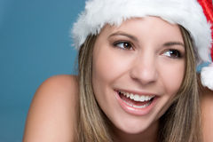 Laughing Christmas Girl Stock Image