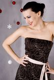 Laughing Christmas Ornament Girl Royalty Free Stock Image
