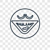 Laughing concept vector linear icon isolated on transparent back royalty free illustration