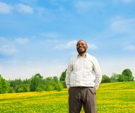 Laughing confident black man Royalty Free Stock Photography
