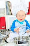 Laughing cook Royalty Free Stock Photography