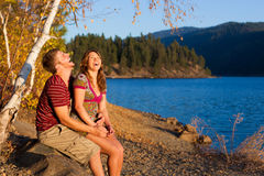 Laughing couple Stock Image