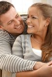 Laughing couple at home Royalty Free Stock Photo