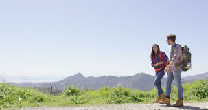 Laughing couple in mountains Royalty Free Stock Photo