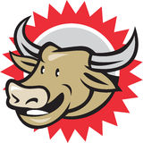 Laughing Cow Head Cartoon Stock Image