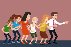 Laughing crowd vector cartoon Royalty Free Stock Photography