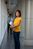 Laughing Cute College Student University Campus Stock Photo
