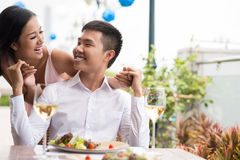 Laughing date Royalty Free Stock Images