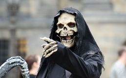Laughing death in Amsterdam stock photo