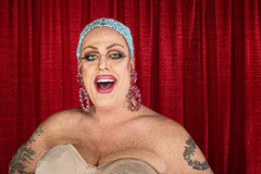 Laughing Drag Quen without Wig Royalty Free Stock Photo