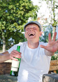Laughing drunkard Royalty Free Stock Photos