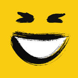 Laughing emoticon painted Stock Photography