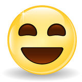 Laughing Emoticon. Smiling Emoji. Emoticon icon. Royalty Free Stock Photography