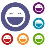 Laughing emoticons set stock illustration