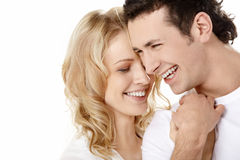 The laughing enamoured Stock Photos