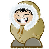 Laughing Eskimo. Cartoon or artistic drawing of a laughing Eskimo Royalty Free Stock Images