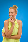 Laughing and excited woman looking at camera. Stock Photography