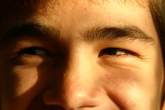 Laughing eyes Stock Images
