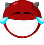 Laughing face imp stock illustration