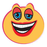Laughing face stock photo