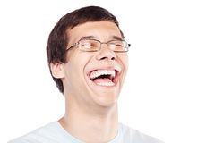 Laughing face Stock Photography