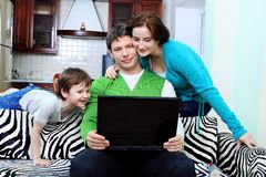 Laughing family Stock Image