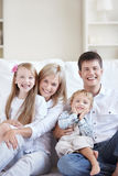 Laughing family Royalty Free Stock Photos