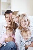 Laughing family Royalty Free Stock Photography