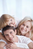 Laughing family Royalty Free Stock Images