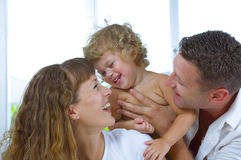 Laughing family Royalty Free Stock Image