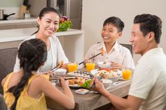Laughing family Stock Photography