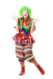 Laughing female clown Royalty Free Stock Photography