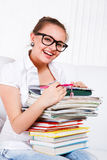 Laughing female student Royalty Free Stock Image