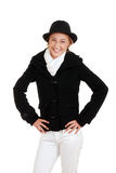 Laughing female teen in winter clothing Stock Photography