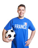 Laughing football player from France Royalty Free Stock Photography