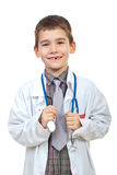 Laughing future doctor with stethoscope Stock Images