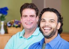 Laughing Gay Men Stock Photo