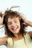 Laughing girl. Happy and laughing girl, portrait Royalty Free Stock Image