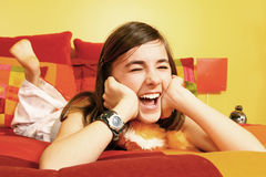 Laughing girl Royalty Free Stock Images