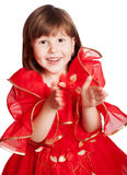 Laughing girl clapping hands Royalty Free Stock Photography