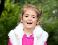 Laughing girl close up.Kid smiling. Royalty Free Stock Photo