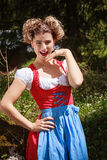 Laughing Girl in Dirndl Stock Photography