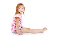 Laughing girl dressed in sundress Royalty Free Stock Images