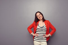 Laughing girl have a good mood Royalty Free Stock Photos
