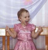 Laughing girl. Joyful emotions Royalty Free Stock Photography