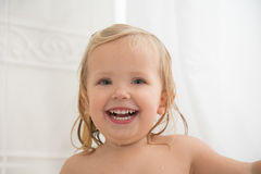 Laughing girl with nice teeth Royalty Free Stock Images