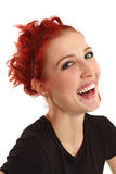 Laughing girl with red hair Royalty Free Stock Images